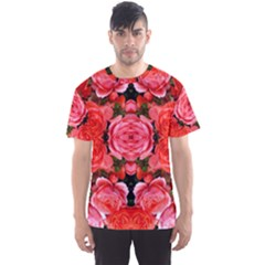 Beautiful Red Roses Men s Sport Mesh Tees