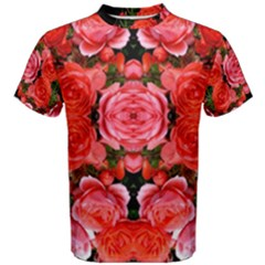 Beautiful Red Roses Men s Cotton Tees by Costasonlineshop