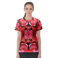 Beautiful Red Roses Women s Sport Mesh Tees by Costasonlineshop