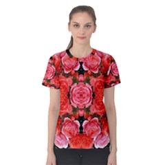 Beautiful Red Roses Women s Cotton Tee by Costasonlineshop