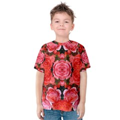 Beautiful Red Roses Kid s Cotton Tee