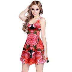 Beautiful Red Roses Reversible Sleeveless Dresses by Costasonlineshop