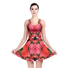 Beautiful Red Roses Reversible Skater Dresses by Costasonlineshop