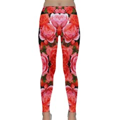 Beautiful Red Roses Yoga Leggings by Costasonlineshop