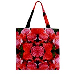 Beautiful Red Roses Zipper Grocery Tote Bags