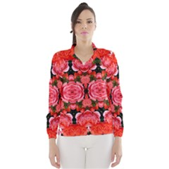 Beautiful Red Roses Wind Breaker (women) by Costasonlineshop