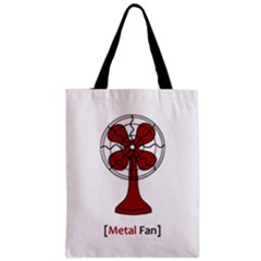 Metal Fan Zipper Classic Tote Bags by waywardmuse