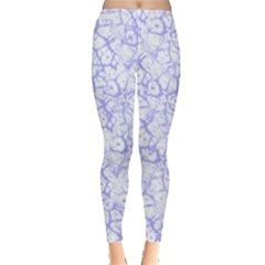 Officially Sexy Light Purple & White Cracked Pattern Leggings  by OfficiallySexy