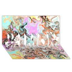 Distortedbeauty #1 Mom 3d Greeting Cards (8x4)