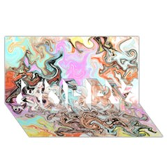 Distortedbeauty Sorry 3d Greeting Card (8x4)