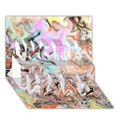 Distortedbeauty Work Hard 3d Greeting Card (7x5)  by theunrulyartist