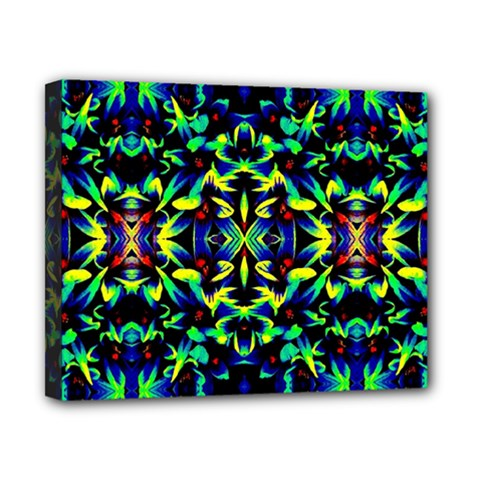 Cool Green Blue Yellow Design Canvas 10  x 8  by Costasonlineshop