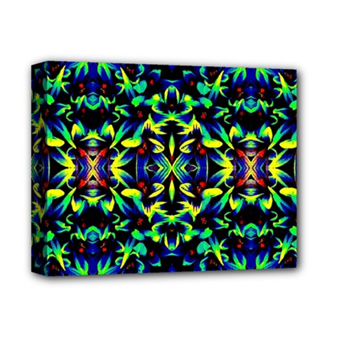 Cool Green Blue Yellow Design Deluxe Canvas 14  X 11  by Costasonlineshop