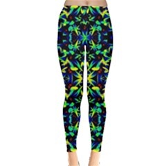Cool Green Blue Yellow Design Women s Leggings by Costasonlineshop