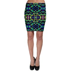 Cool Green Blue Yellow Design Bodycon Skirts by Costasonlineshop