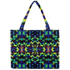 Cool Green Blue Yellow Design Tiny Tote Bags by Costasonlineshop