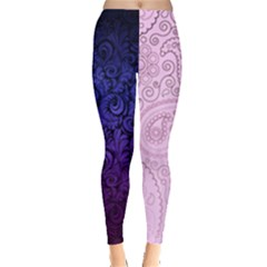 Two Tone Purple Leggings  by Xnvy