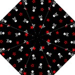Stars, Skulls And Crossbones Folding Umbrellas