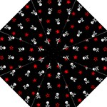 Stars, Skulls And Crossbones Hook Handle Umbrellas (Medium)