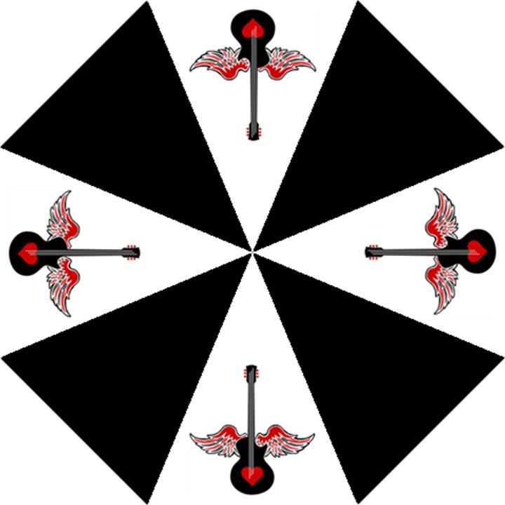 Flying Heart Guitar Folding Umbrellas