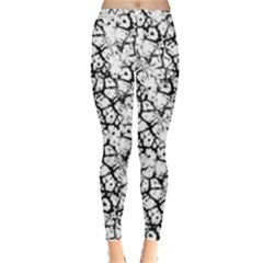 Officially Sexy White & Black Cracked Pattern Leggings  by OfficiallySexy