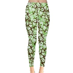 Officially Sexy Mint & Chocolate Cracked Pattern Leggings  by OfficiallySexy