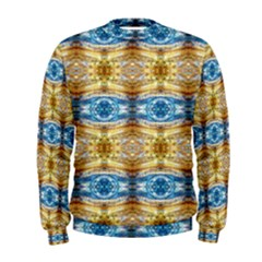 Gold And Blue Elegant Pattern Men s Sweatshirts by Costasonlineshop
