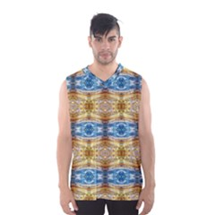 Gold And Blue Elegant Pattern Men s Basketball Tank Top