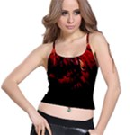 DARK RED BIRD Spaghetti Strap Bra Tops