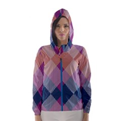 Argyle variation Hooded Wind Breaker (Women) by LalyLauraFLM