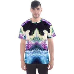 Space Cosmos Black Blue White Red Men s Sport Mesh Tees by Costasonlineshop