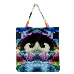 Space Cosmos Black Blue White Red Grocery Tote Bags by Costasonlineshop
