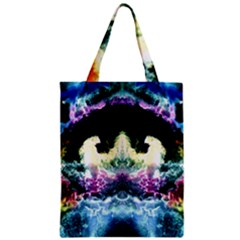 Space Cosmos Black Blue White Red Zipper Classic Tote Bags