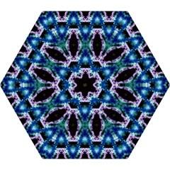 Blue, Light Blue, Metallic Diamond Pattern Mini Folding Umbrellas by Costasonlineshop