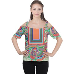 tribal7 Women s Cutout Shoulder Tee