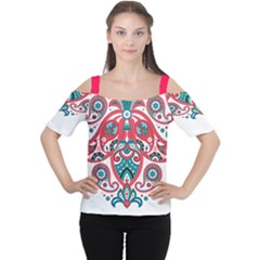Tribal10 Women s Cutout Shoulder Tee by walala