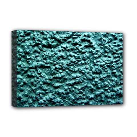 Blue Green  Wall Background Deluxe Canvas 18  X 12