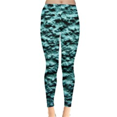 Blue Green  Wall Background Women s Leggings by Costasonlineshop