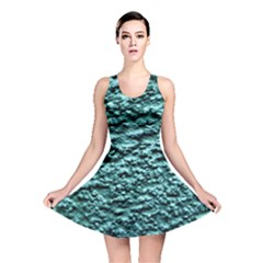 Blue Green  Wall Background Reversible Skater Dresses
