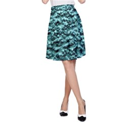 Blue Green  Wall Background A Line Skirt by Costasonlineshop