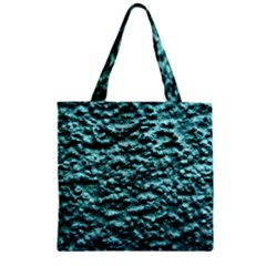 Blue Green  Wall Background Zipper Grocery Tote Bags by Costasonlineshop