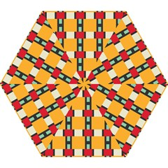 Rectangles And Squares Pattern Umbrella