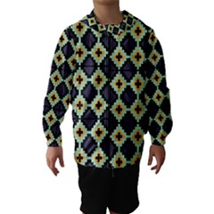 Pixelated Pattern Hooded Wind Breaker (kids) by LalyLauraFLM