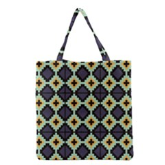 Pixelated Pattern Grocery Tote Bag by LalyLauraFLM