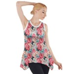 flower pattern - Side Drop Tank Tunic