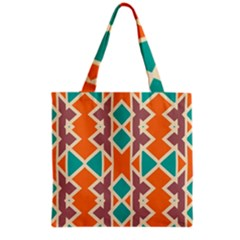 Rhombus Triangles And Other Shapes Grocery Tote Bag by LalyLauraFLM