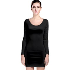 Black Gothic Long Sleeve Bodycon Dress by Costasonlineshop