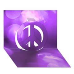 Purple Circles Peace Sign 3d Greeting Card (7x5)  by timelessartoncanvas