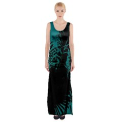 Palm Designs Maxi Thigh Split Dress by timelessartoncanvas