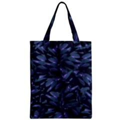Tropical Dark Pattern Zipper Classic Tote Bags by dflcprints